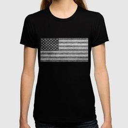USA flag - Grayscale high quality image T-shirt
