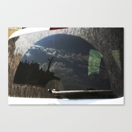 City Reflection on Glass Canvas Print