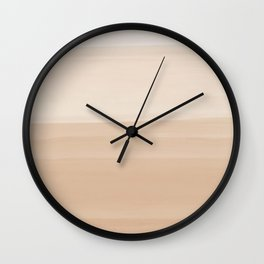 Touching Warm Beige Watercolor Abstract #1 #painting #decor #art #society6 Wall Clock