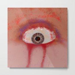 Red eye of selfish Metal Print