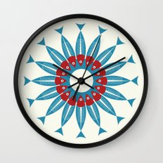 Red Fish, Blue Fish in a Ring Wall Clock