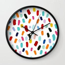 Good & Plenty Polka Daubs Wall Clock