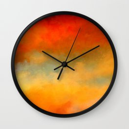 Abstract Sunset Digital Painting Wall Clock
