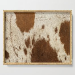 Pattern of a Longhorn bull cowhide. Serving Tray
