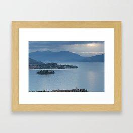 Majestic Lake Maggiore Framed Art Print