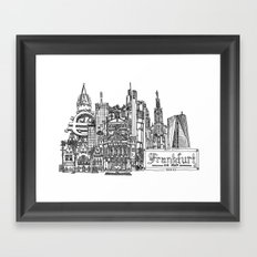 Busy City – Frankfurt am Main Framed Art Print