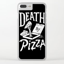 Death by Pizza Clear iPhone Case