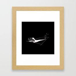Shadow Coat-sketch Framed Art Print