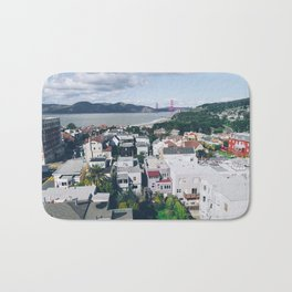 View of The City from above my Friends Apartment Bath Mat
