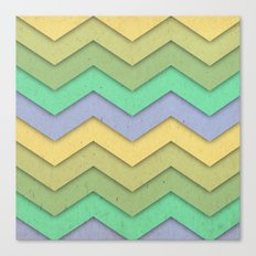 Spring day Chevron Canvas Print