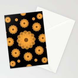 Orange Flowers Against the Night Stationery Cards