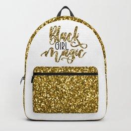 Black Girl Magic Glitter Love Backpack