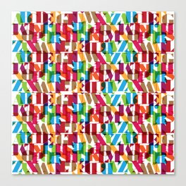 Letterform Fitting Canvas Print