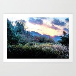 Mountain Sunrise Art Print