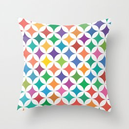 Stars - Rainbow #795 Throw Pillow