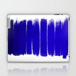 Shel - abstract painting painterly brushstrokes indigo blue bright happy paint abstract minimal mode Laptop & iPad Skin
