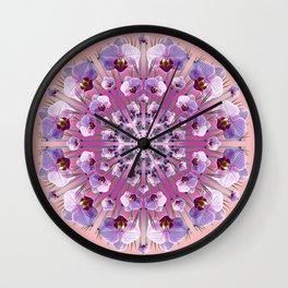 Orchids-a-go-go (dusk) Wall Clock
