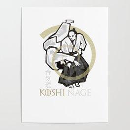 Aikido koshi nage Poster