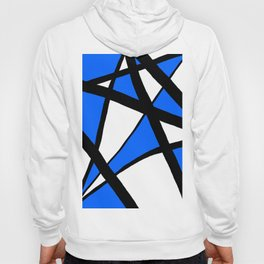 China Blue Geometric Triangle Abstract Hoody