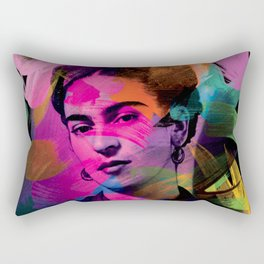 Frida Kahlo - Colors Rectangular Pillow
