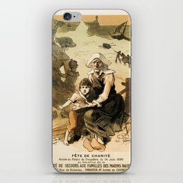 1890 Drowned fishermen charity ball by Chéret iPhone Skin