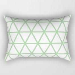 Mint Triangle Pattern 2 Rectangular Pillow