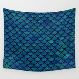 Mermaid scales iridescent sparkle Wall Tapestry