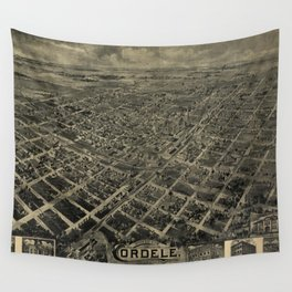 Vintage Pictorial Map of Cordele GA (1908) Wall Tapestry