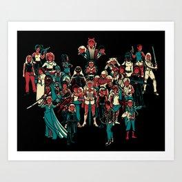 LADY KNIGHTS!! Art Print