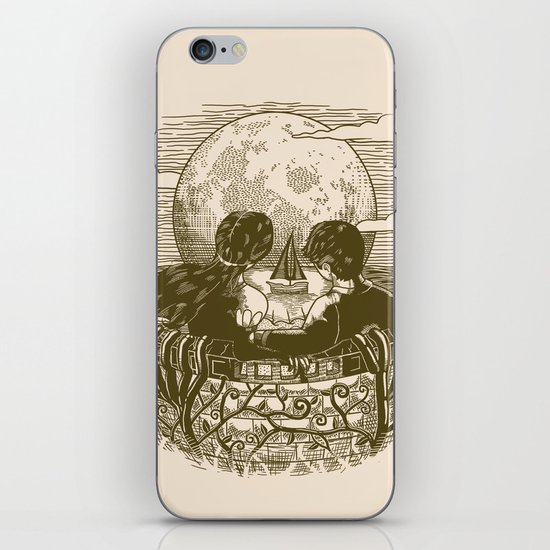 Love and Death At the Beach iPhone Skin