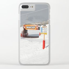 Entrance to the Snowpark Clear iPhone Case