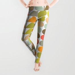 Mid Century Modern Fern Pattern Leggings