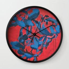 Snow Roses Wall Clock