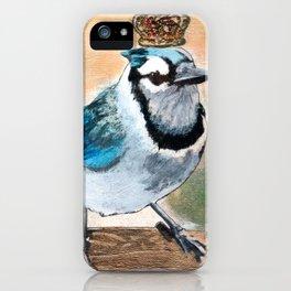 Royal Blue Jay iPhone Case