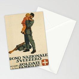 poster dono nazionale svizzera peri nostri Stationery Cards