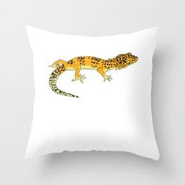 Exotic Gecko Throw Pillow