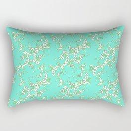 Petite Paisley in Aqua Rectangular Pillow