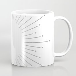 Sunburst Moonlight Silver on White Coffee Mug
