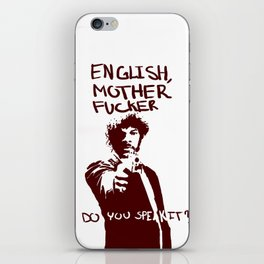Pulp Fiction Samuel L Jackson English Motherfucker Do You Speak It? iPhone Skin