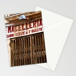 Old Sicilian Butcher Shop in Marsala Stationery Cards