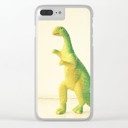 Dinosaur Attack Clear iPhone Case