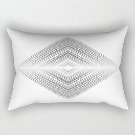 Fine lines geometric art, Zen and balance symmetry art Rectangular Pillow