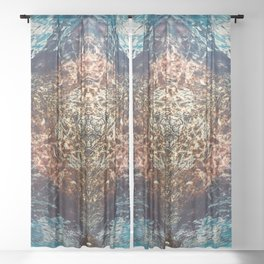 A Point For Reflection No 1 Sheer Curtain