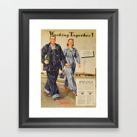 1942 Working Together Cover Framed Art Print