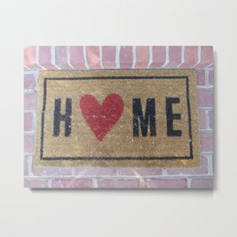 I Love Home Metal Print