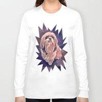 shih tzu Long Sleeve T-shirts featuring shih tzu smile by elissa iatridis