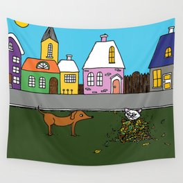 Sausage Town Wall Tapestry
