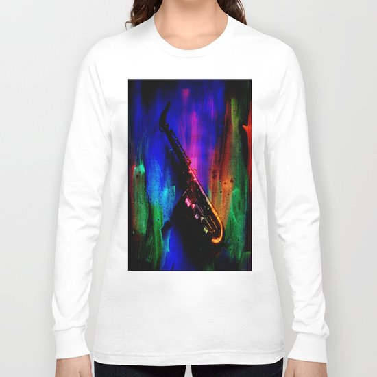 Midnight Sax Long Sleeve T-shirt