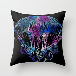 Elephant Art Throw Pillow