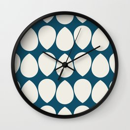 Wilma in Navy Blue and Ivory Wall Clock